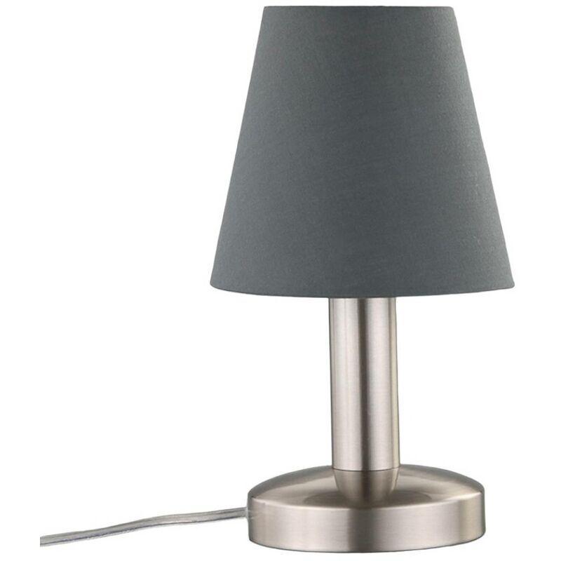 Lindby - Lampe à poser 'Hanno' en textile pour chambre à coucher