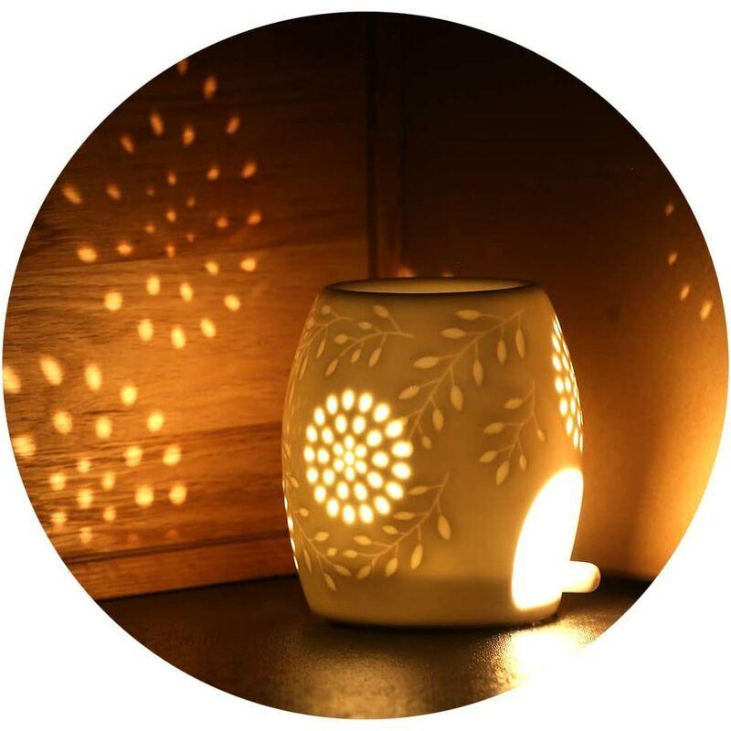 Briday - Lampe Arôme Diffuseur d'huile Céramique Huile Essentielle Parfum Lampes Lampe de Parfum Chambre Bougie Aromathérapie Brûleurs à Huiles