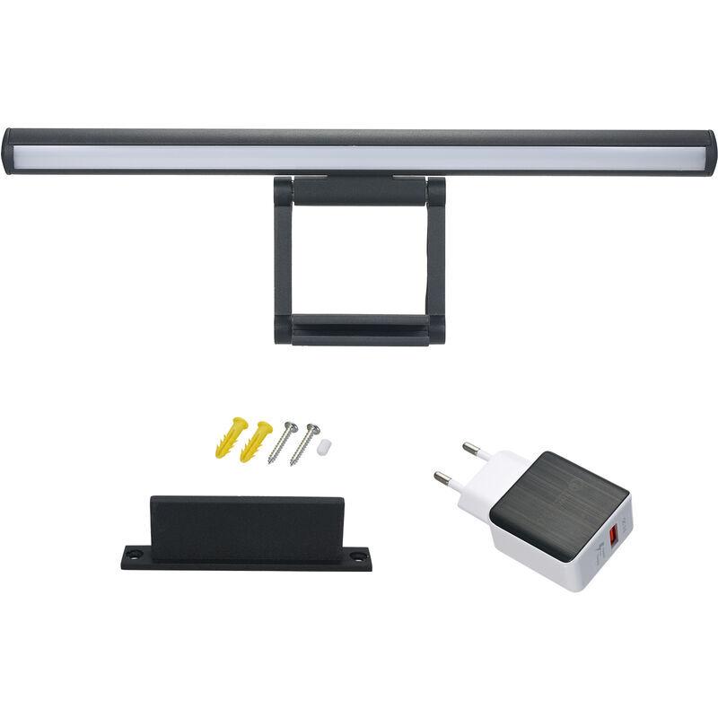 HAPPYSHOPPING Lampe de bureau a LED USB Moniteur d'ordinateur ecran Light Eye Protect Dimmable Lampe de table Bar Pince de bureau a domicile, modele: Noir 60cm