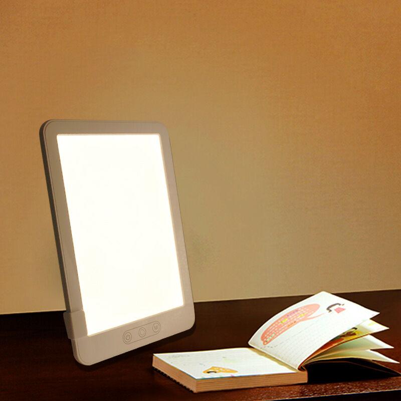 Dontodent - Lampe de Photothérapie Luminotherapie avec Luminosité, Température de Couleur et Minuterie Réglables Lampe Lumiere du Jour pour Une