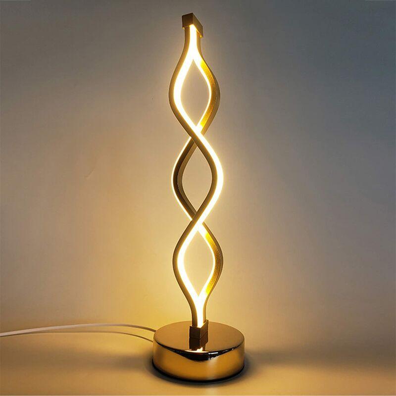 ABCRITAL Lampe de table LED Lampe de chevet à intensité variable avec 3 niveaux de luminosité Lampe décorative Idéal pour chambre à coucher, salon, bureau,