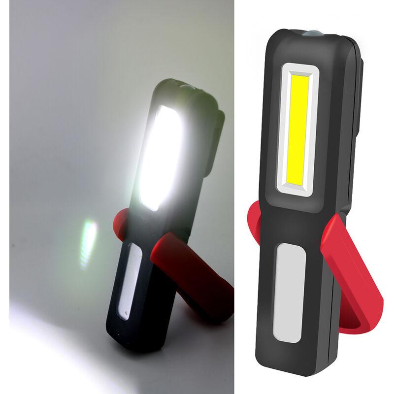 HAPPYSHOPPING Lampe de travail a LED COB rechargeable par USB avec lampe de poche portable a base magnetique Veilleuses de camping a crochet suspendu exterieur,