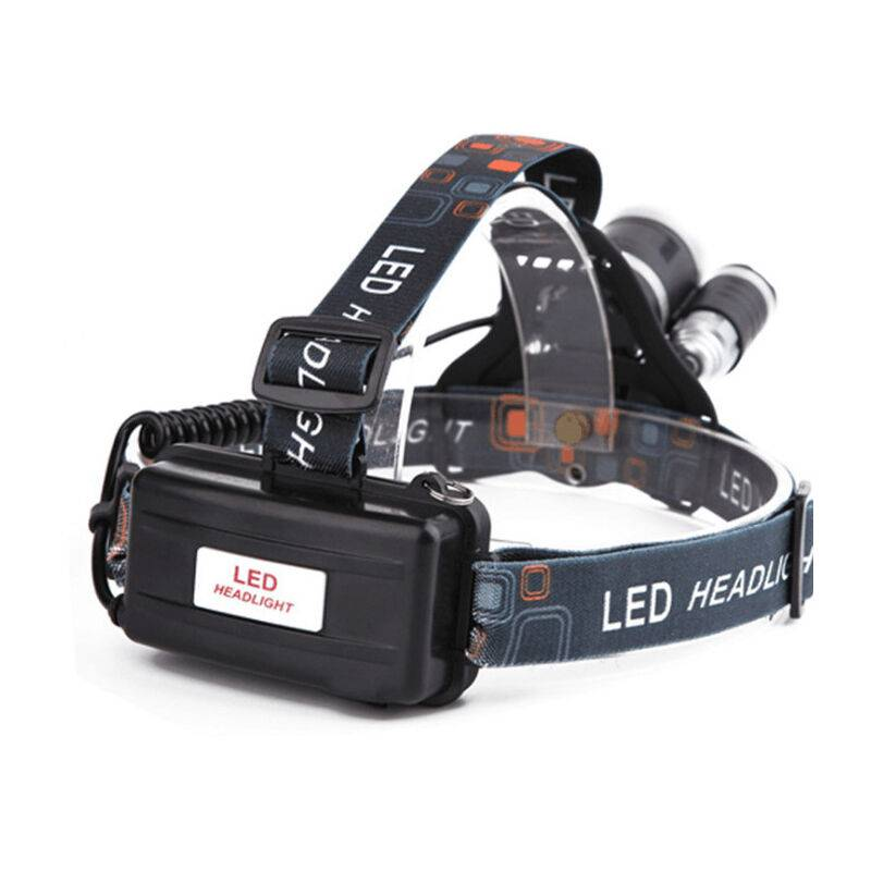 Triomphe - Lampe Frontale LED avec Batterie500LM 4 Modes de lumière et jusqu'à 6 Heures d'utilisation pour Camping, pêche, éclairage d'urgence,