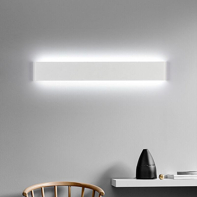 DONTODENT Lampe LED de miroir,6W LED Applique murale,3000K,IP44,Applique Mural 24CM Lumière de nuit pour salle de bain, chambre à coucher,Blanc Chaud [Classe