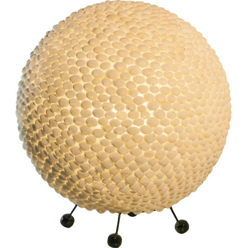 ETC-SHOP Lampe à boule de table design coquille sommeil chambre d'amis éclairage lampe de projecteur décorative veilleuse