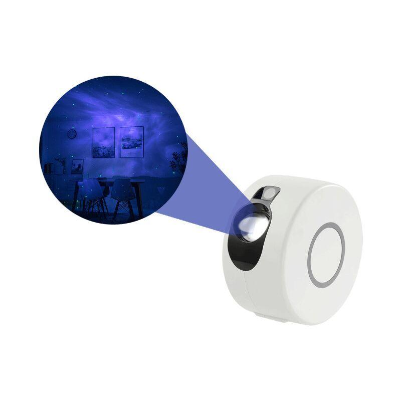 Dontodent - Lampe Projecteur LED Étoile, Projecteur de Veilleuse avec Ocean Wave Moon et Star Night Light Galaxy, USB Rechargeable?blanche?