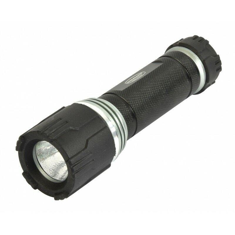 MANU FRANCE® PRODUITS DU MONDE Lampe torche LED Pro Aluminium 3W - 150 lumens - 3 fonctions - 135 mm 135 mm