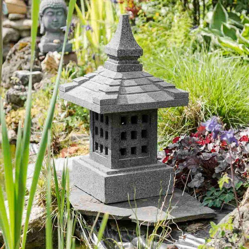 WANDA COLLECTION Lanterne japonaise en pierre de lave de 55cm