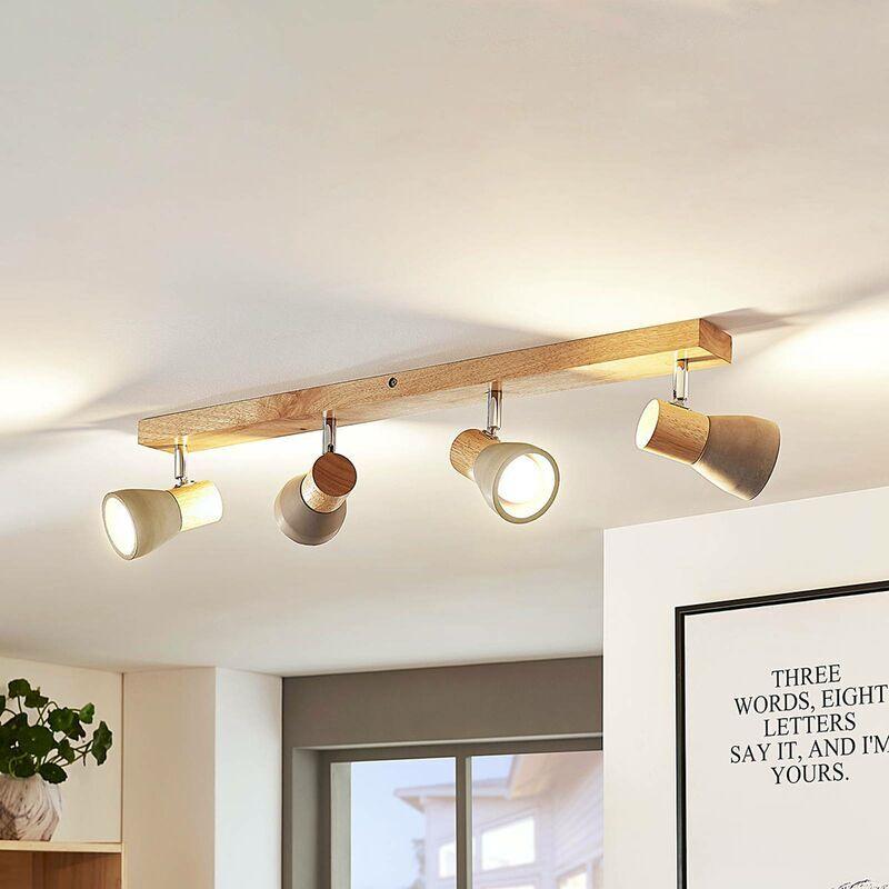 LINDBY LED Plafonnier en béton 'Filiz' en pierre pour chambre à coucher