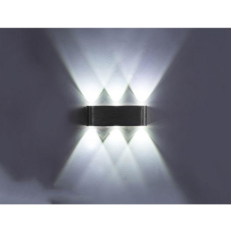 ZHUOXUAN Lightess Applique Murale LED 6W Intérieur Lampe Murale Moderne Carré Up Down en Aluminium Eclairage Lumière pour Chambre a Coucher Bureau Lit Couloir