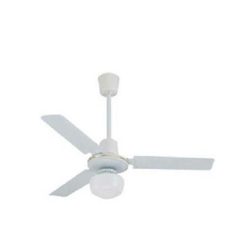 Zephir - Location ventilateur d.90cm couleur blanche avec lumie're zfs8093