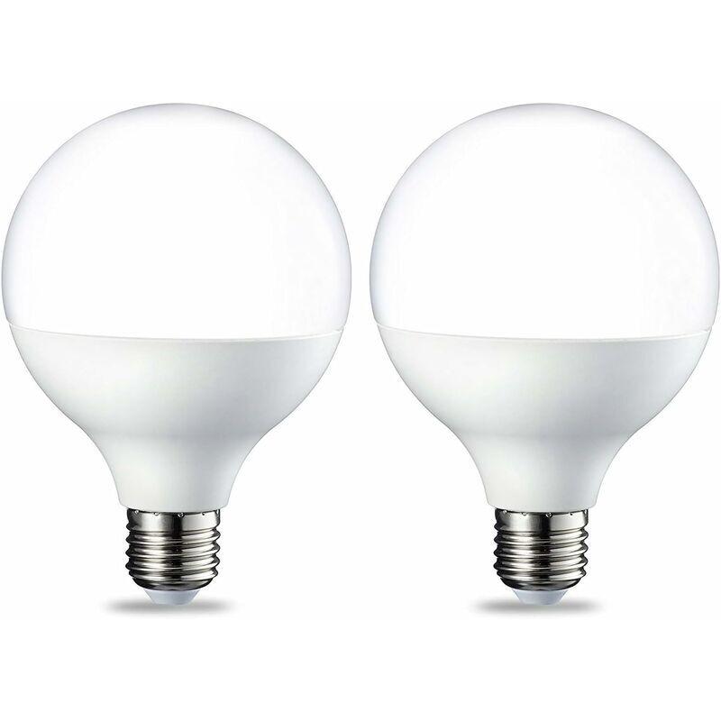 Betterlife - Lot de 2 ampoules LED E27 Globe, avec culot à vis Edison G95, 15 W , blanc chaud vif