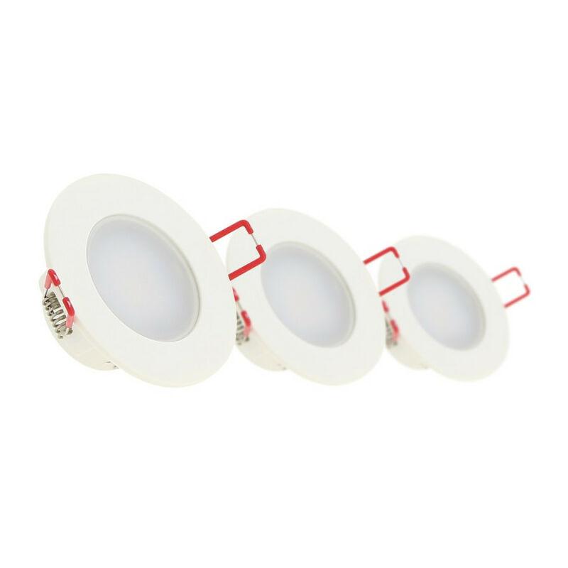 XANLITE Lot de 3 Spots Encastrable LED Intégrés - IP 65 pour salle de bain - cons. 5W (eq. 50W) - 345 lumens - Blanc neutre - PACK3SEL345CWIP - Xanlite