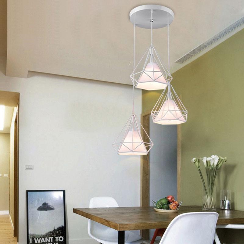 AXHUP Métal Suspension Luminaire Contemporain Plafonnier Lustre Edison Culot E27 Eclairage de Plafond Suspension