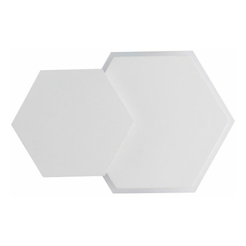PARIS PRIX Applique Murale Led Hexagonale darro 24cm Blanc - Paris Prix