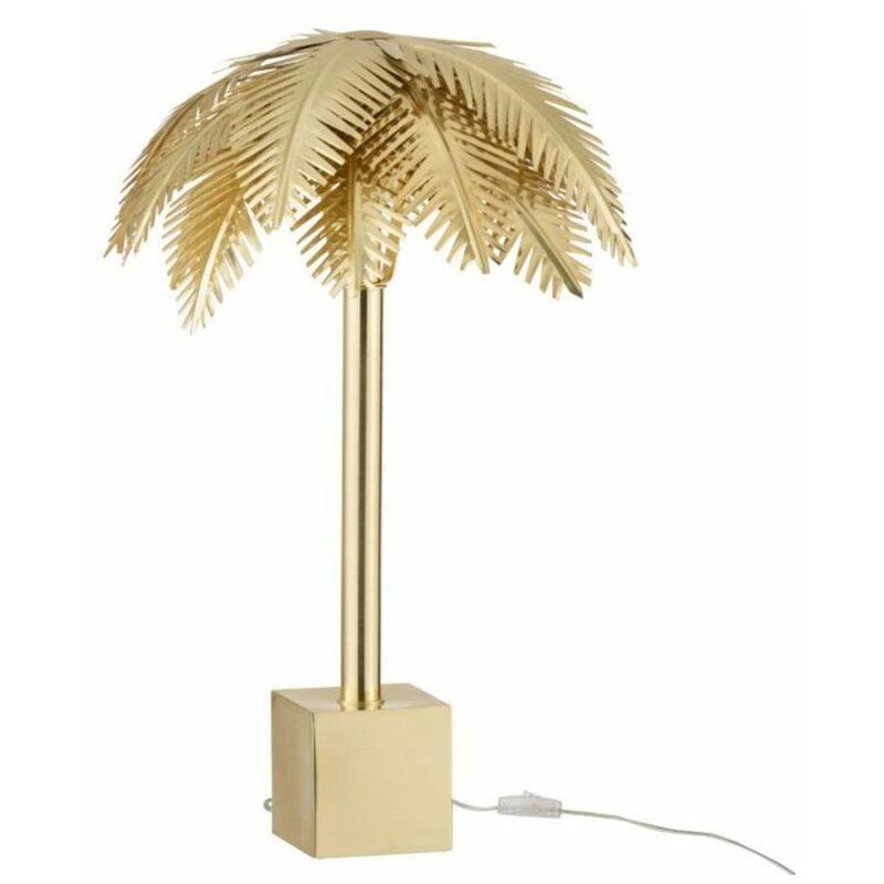 PARIS PRIX Lampe à Poser Déco feuilles De Coco 72cm Or - Paris Prix