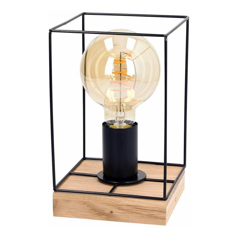 PARIS PRIX Lampe à Poser Design gretter 22cm Chêne Huilé - Paris Prix