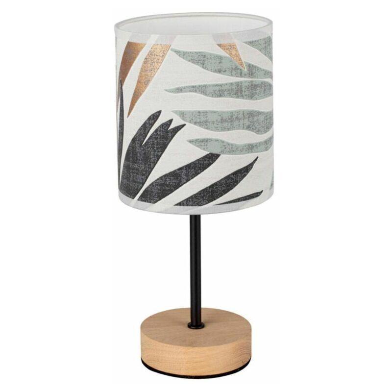 PARIS PRIX Lampe à Poser Design hoja 29cm Chêne Huilé - Paris Prix