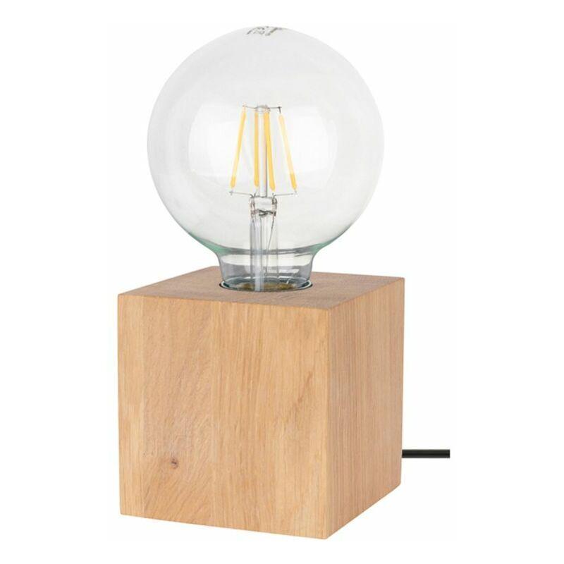 PARIS PRIX Lampe à Poser Design trongo 10cm Chêne Huilé - Paris Prix