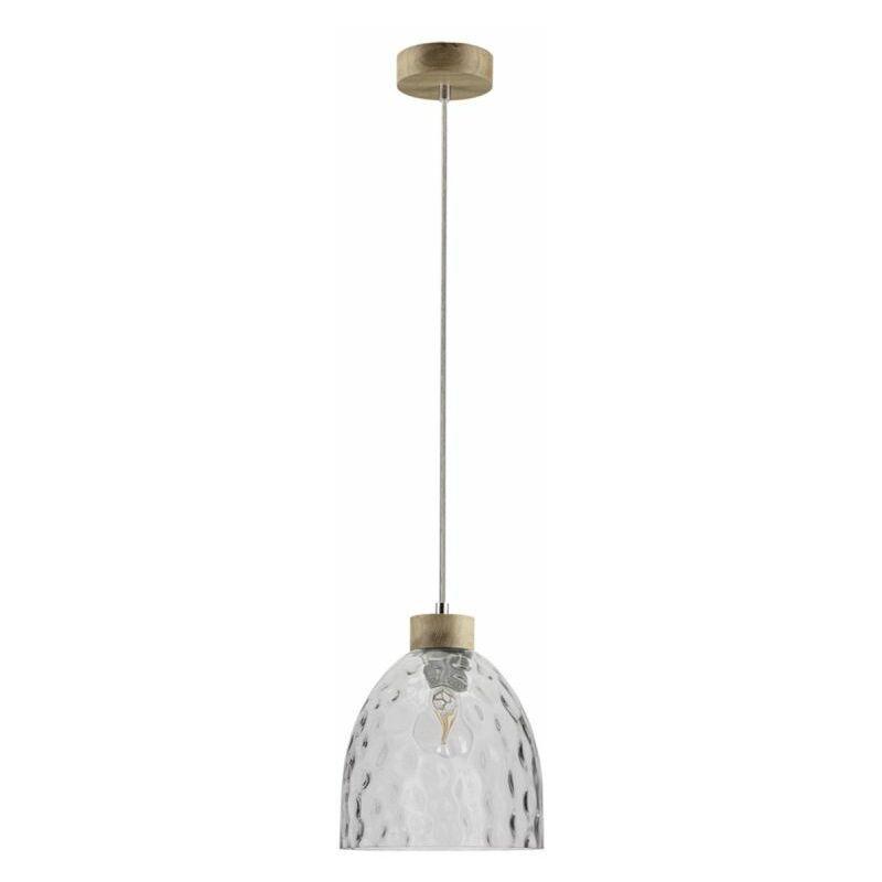 PARIS PRIX Lampe Suspension Design aura 110cm Chêne Huilé - Paris Prix