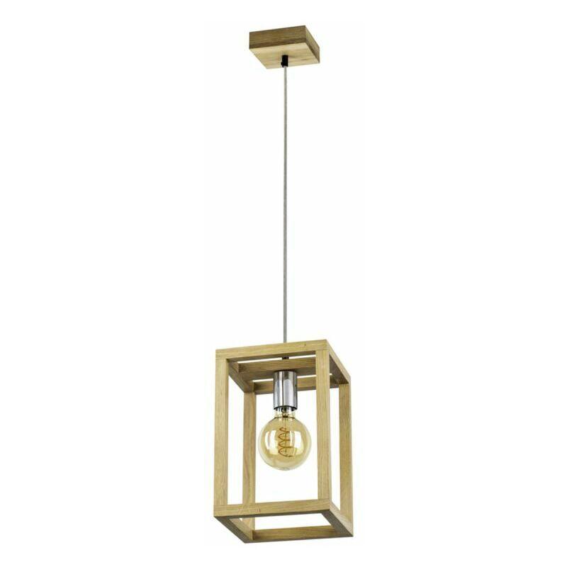 PARIS PRIX Lampe Suspension Design kago 120cm Chêne Huilé - Paris Prix