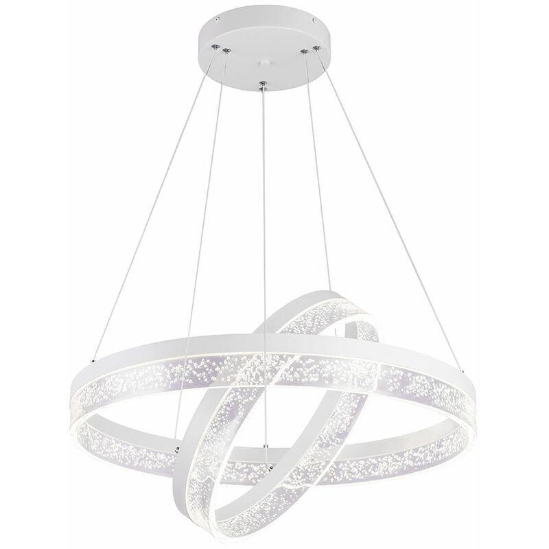 Etc-shop - Pendule de plafond à LED suspendue lampe en métal luminaire anneaux bulles d'air réglables