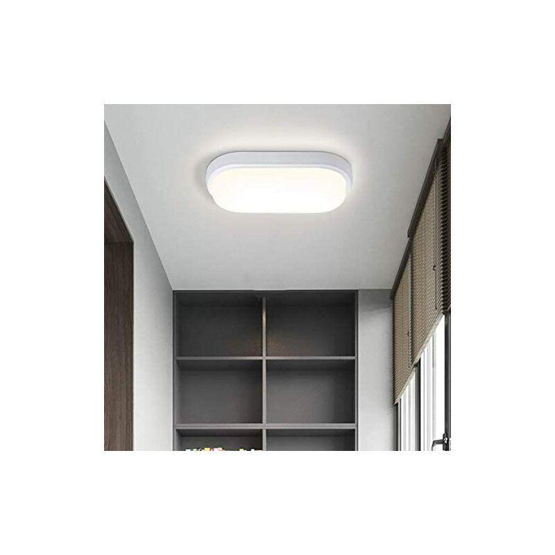 BETTERLIFE Plafonnier LED 16 W 1440 lm - Étanche - IP54 - 4000 K - Sans scintillement - Pour salle de bain, chambre à coucher, salon, chambre d'enfant, cave,