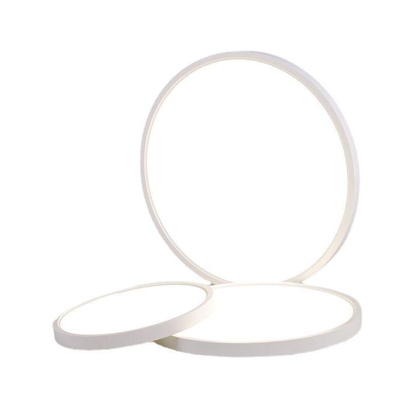 Thsinde - Plafonnier LED pour salle de bain 18 W 1800 lm Rond Ultra fin IP44 Étanche Pour salle de bain, salon, chambre d'enfant, chambre à coucher,