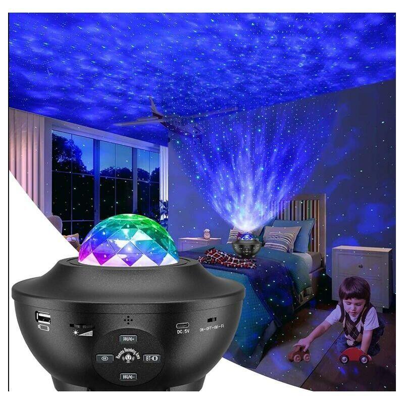 THSINDE Projecteur Ciel Etoile Galaxie - LED Alexa Planetarium Projecteur Plafond,avec Bluetooth, Télécommande et 10 Modes,Decoration Chambre pour Adultes et