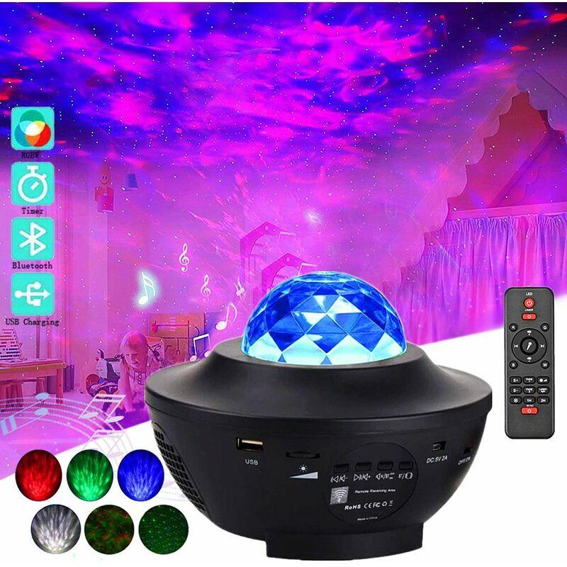 Thsinde - Projecteur de ciel étoilé à LED, projecteur starlight avec télécommande / bluetooth 4 niveaux de luminosité jeux de lumières cadeaux pour