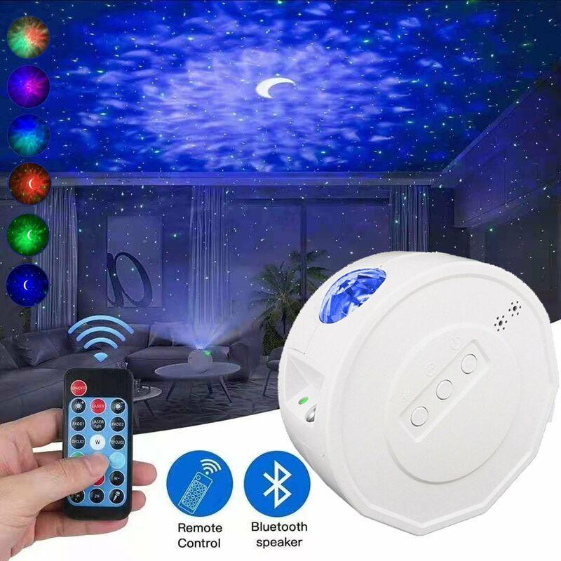 Thsinde - Projecteur de ciel étoilé à LED, veilleuse à LED, changement de couleur et Bluetooth et minuterie, lampe de ciel étoilé avec des cadeaux