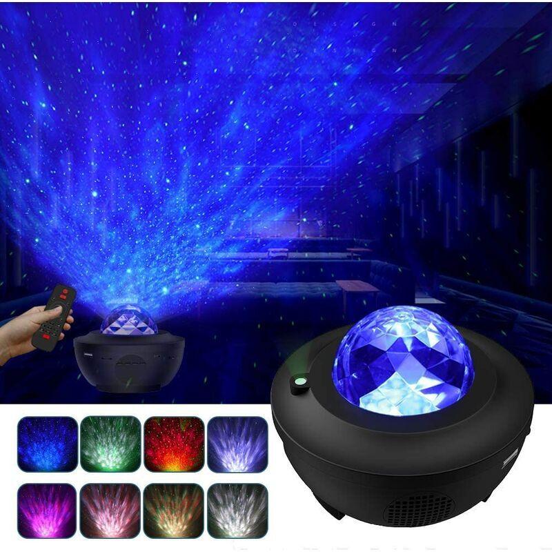 Abcrital - Projecteur de ciel étoilé, lampe de projecteur à LED étoilée / vagues d'eau / haut-parleur Bluetooth parfait pour la fête