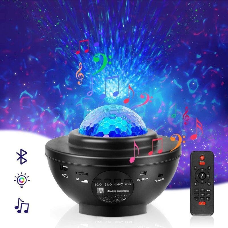 THSINDE Projecteur de lumière Nebula Galaxy Projecteur pour chambre Goodrich Led Laser Star Projecteur Veilleuse avec haut-parleur Bluetooth pour plafond