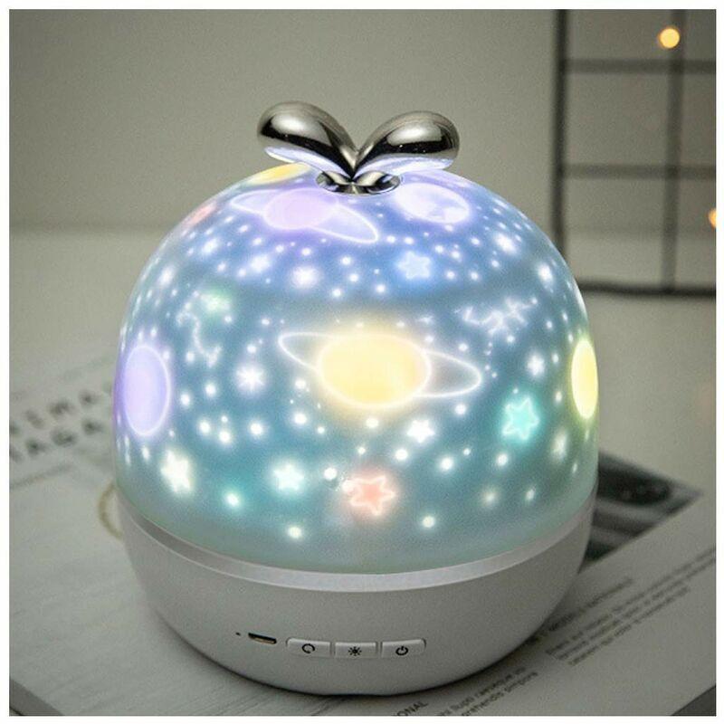 Abcrital - Projecteur de veilleuse pour enfants projecteur de veilleuse pour enfants projecteur d'étoile multifonction 360 ° projecteur de lumière de