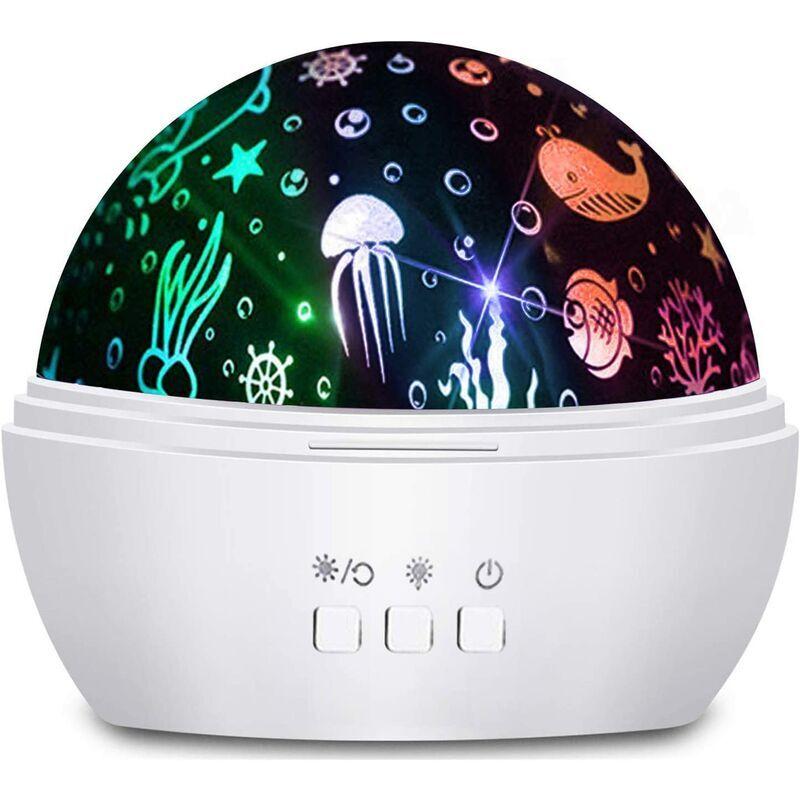 ECHOO Projecteur d'étoiles rotatives Veilleuse pour enfants, jouets amusants pour 2 3 4 5 6 ans garçons filles, cadeau de fête des enfants pour bébés