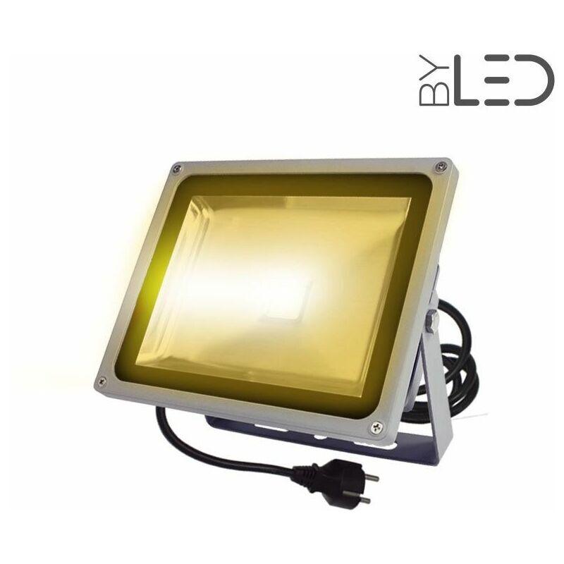 BYLED®-PRODUITS EN PROMOTION Projecteur couleur LED d'extérieur IP65 230V - 30W (Titan 30)   Température de couleur Jaune - Puissance (en Watts) 30 W - Finition Aluminium