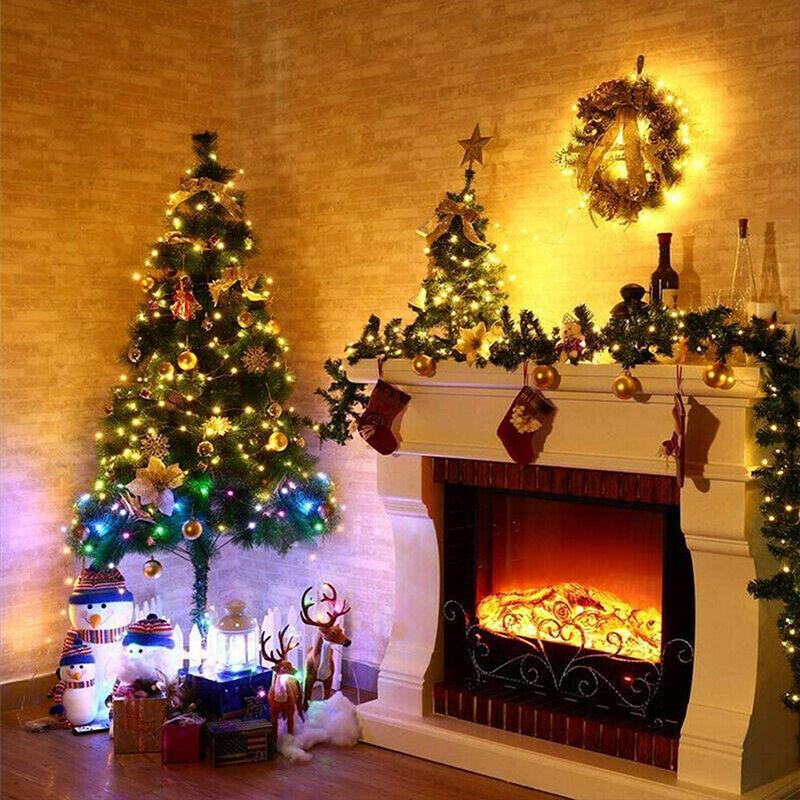 Dontodent - Romantique premier vent nouveau produit 24V télécommande fil de cuivre lampe LED petite lanterne extérieure étoilée Noël guirlande