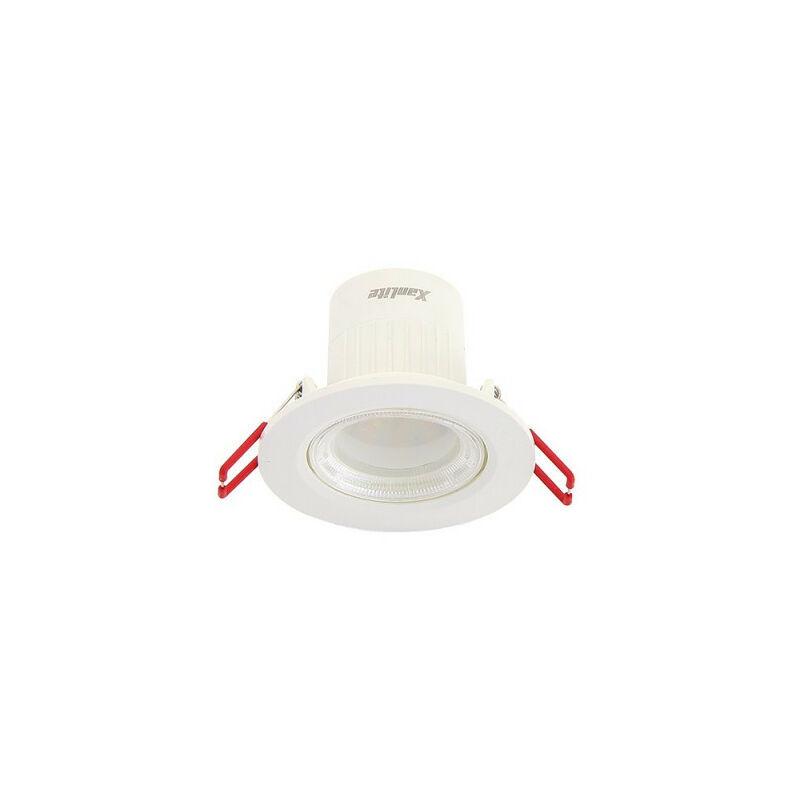 XANLITE Spot Encastrable LED Intégré - Changement de température par switch - Orientable - cons. 6,5W (eq. 50W) - Blanc chaud - SEL345CCT - Xanlite