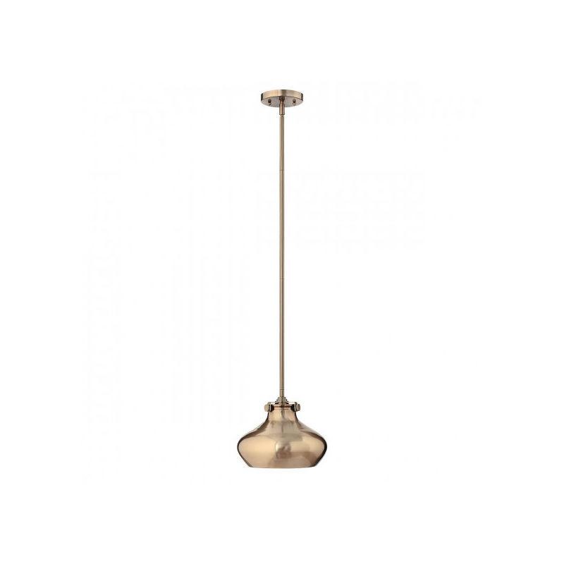 ELSTEAD Suspension Congress, couleur caramel brossé, 1 ampoule, 24 cm