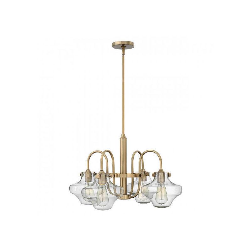 Elstead - Suspension Congress, couleur caramel brossé, 4 ampoules,, 66 cm