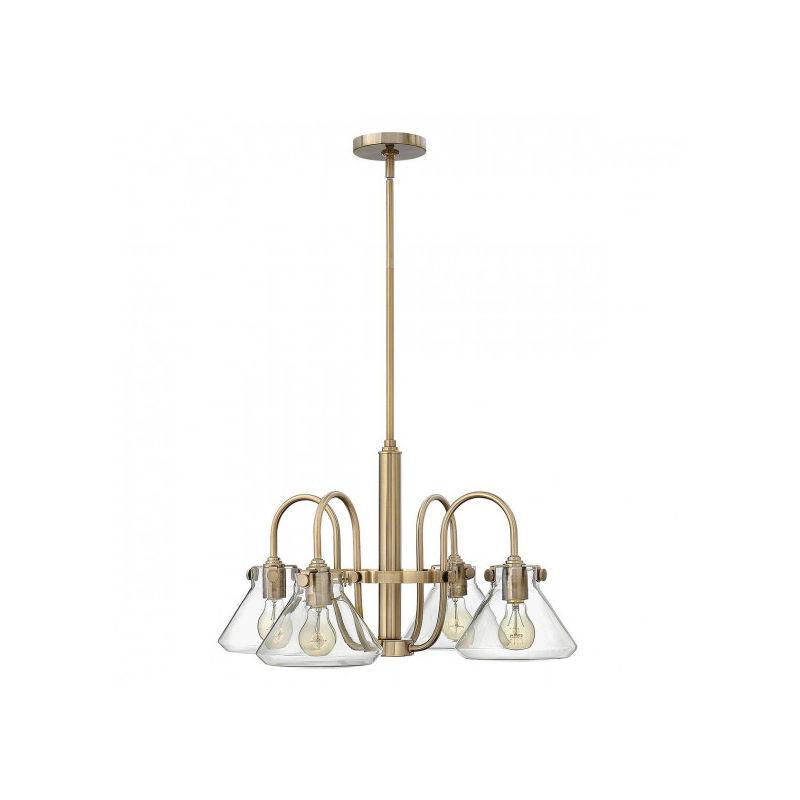 Elstead - Suspension Congress, couleur caramel brossé, 4 ampoules, 68 cm