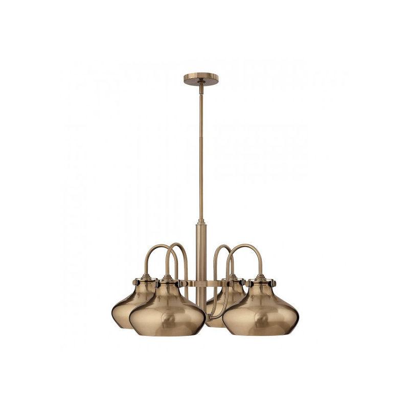 Elstead - Suspension Congress, couleur caramel brossé, 4 ampoules, 71 cm