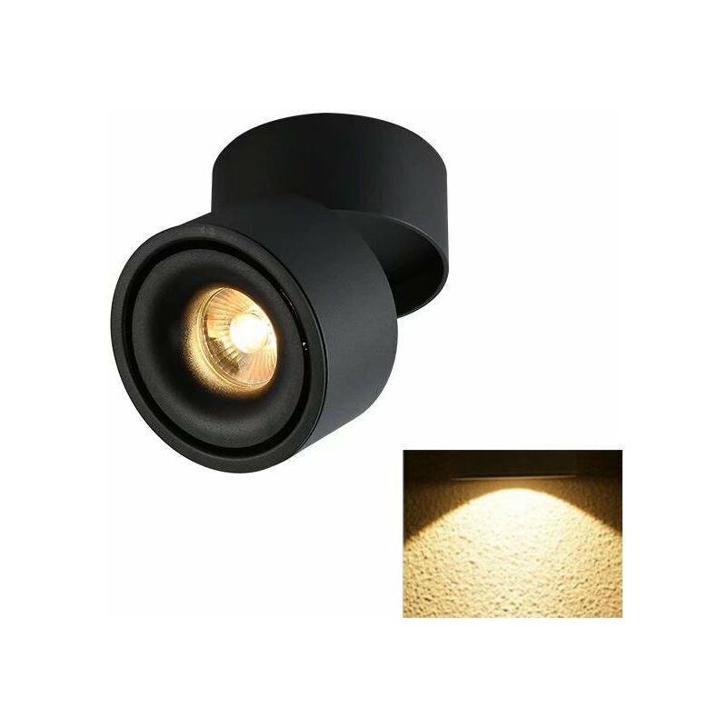 Triomphe Spotlight LED Plafonnier Boutique Plafonnier Commercial Rail Lumière Ménage Angle Réglable Magasin De Vêtements (5W Noir (Lumière Chaude
