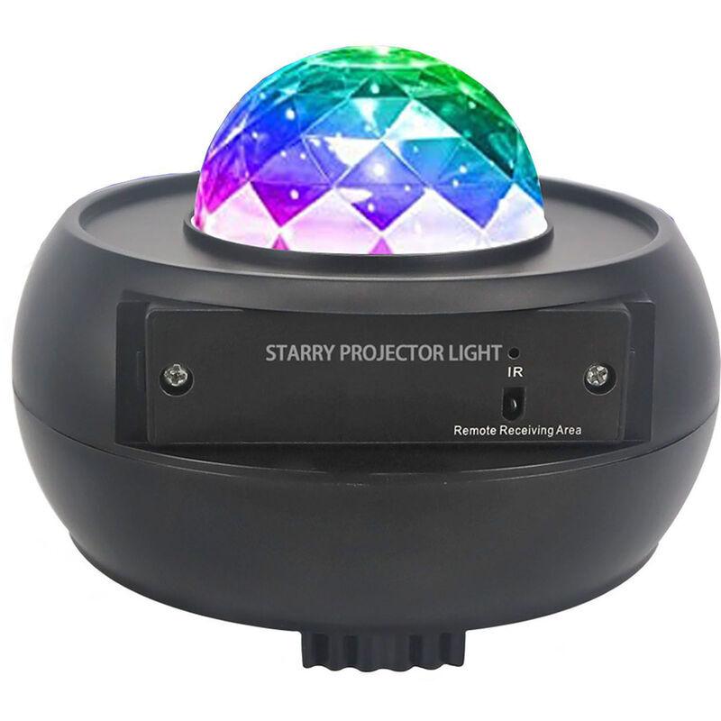HAPPYSHOPPING USB motif d'eau coloree ciel etoile forme de bol de lumiere bluetooth musique ocean lumiere projecteur lumiere