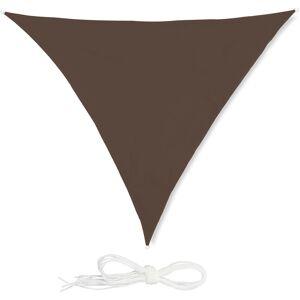 Relaxdays - Voile d'ombrage triangle diffuseur ombre protection soleil UV toile résistante à l'eau, 3 x 3 x 3 m, marron - Publicité