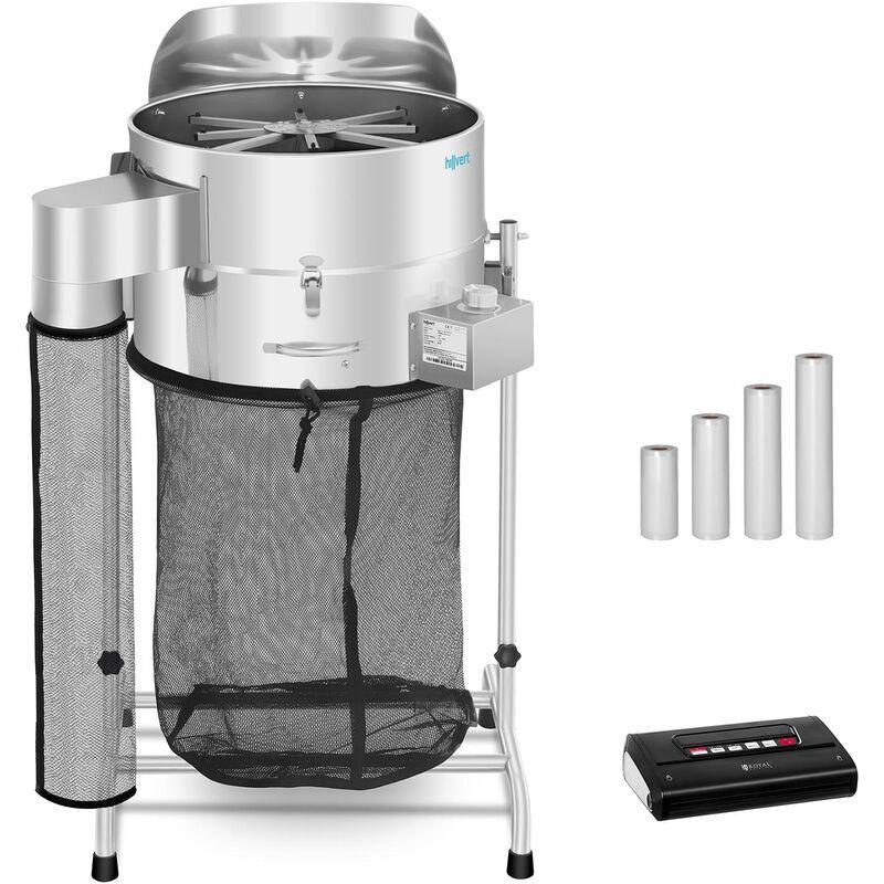 HILLVERT Machine à manucurer électrique Set Effeuilleuse Mise Sous Vide Avec Sacs 120 W