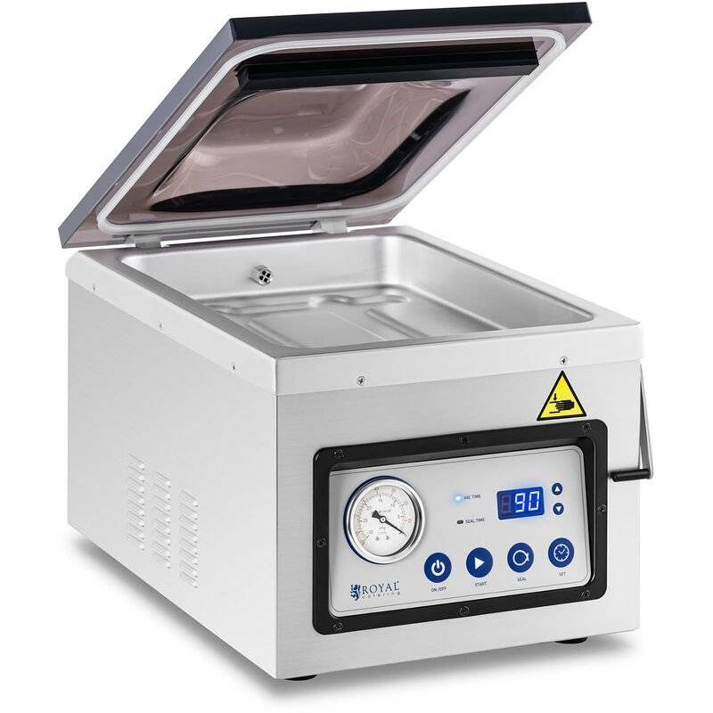 ROYAL CATERING Machine Appareil de Mise Sous Vide Alimentaire Emballeuse Thermoscelleuse 1000w