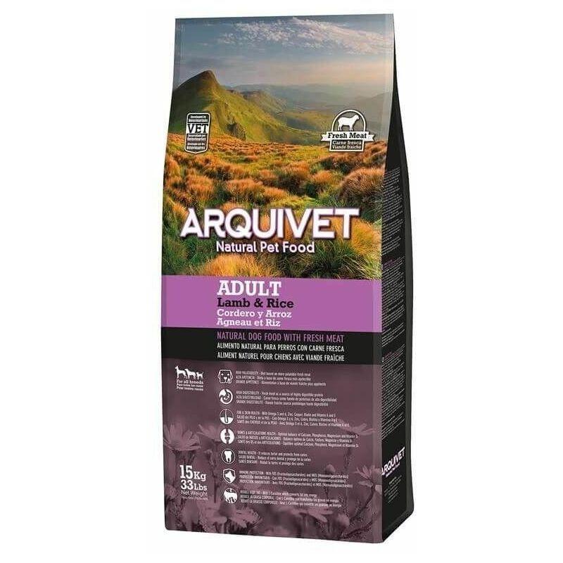 Arquivet Slu - ARQUIVET pour chien adulte, agneau et riz 12 kg