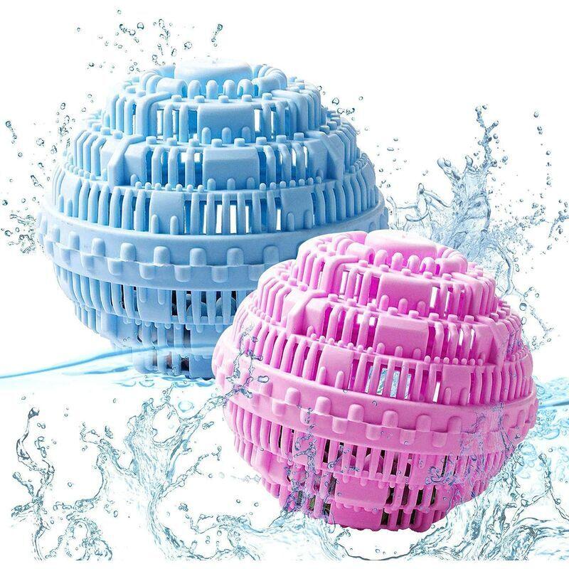 DEVENIRRICHE Boules de Lavage, Boule de Lavage écologique réutilisable, Boule à Linge Naturelle, Antibactérien et durable, Boule de Lessive Boule Ecologique pour