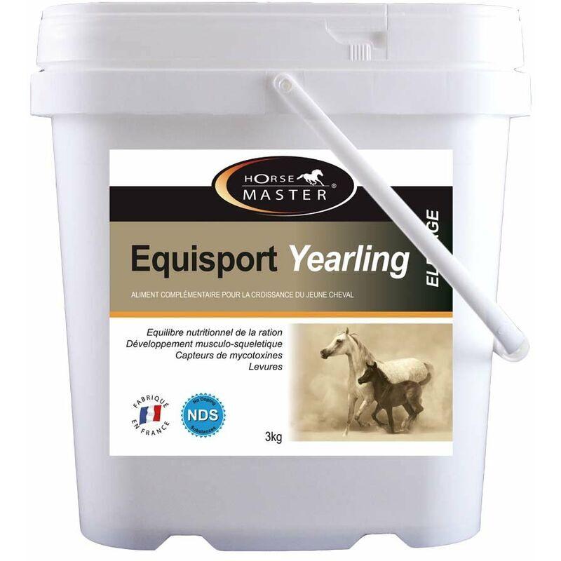 HORSE MASTER Equisport yearling Supplément pour jeunes chevaux favorise le développement musculaire et harmonieux du corps 3 kg